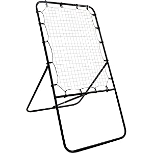 4' Lacrosse Bounce Back Rebounder Pitch Back Ball Return Training Screen by Trademark Innovations