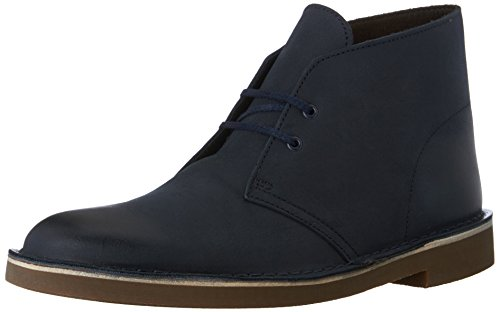 Clarks Men's Bushacre 2 Chukka Boot, Navy Leather, 12 M US