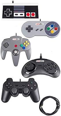 Bundle USB Controllers (5-Pack) N64 PS2 Sega Nintendo NES