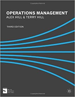 Book Operations Management by Dr Alex Hill (19-Jul-2012)