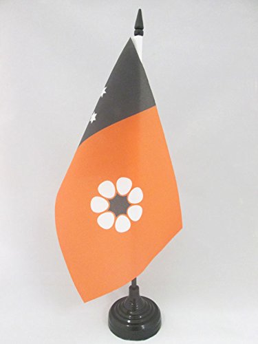 AZ FLAG Northern Territory Table Flag 5'' x 8'' - Australia Territories Desk Flag 21 x 14 cm - Black Plastic Stick and Base (Australia Cheap Furniture Outdoor)