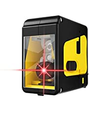 Green/Red Light (Optional) Portable 2 Line High-precision Laser Level Tool Vertical Horizontal Line Multifunctional 3° Self-leveling Function Outdoor Laser Level for Door Window Install Ceramic Tile