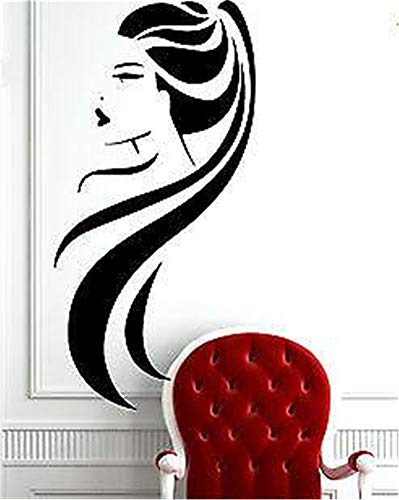 Wall Sticker Decal Mural Window Vinyl Decal Quote Art Beauty Salon Long Hair Ponytail Hot Sexy Girl