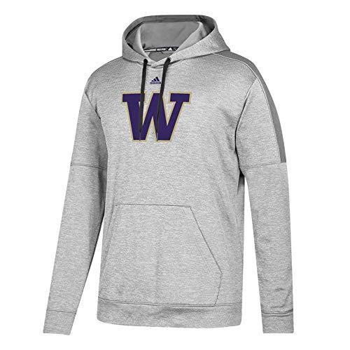 adidas Washington Huskies NCAA Men's Grey Primary Team Logo Climawarm Team Issue Pullover Hoodie (X-Large)
