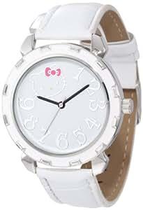 Hello Kitty Women's H3WL1038WT Boyfriend Valentine Kitty Case White Strap Watch