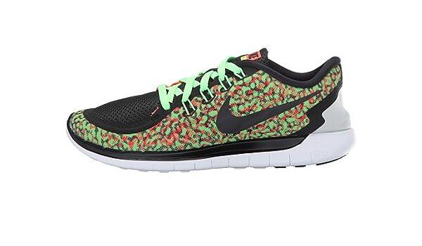 new style 0b7c7 7666b Amazon.com | Nike Women's Free 5.0 Print Running Shoe (10.5, Voltage  Green/Black/Hyper Orange/White) | Road Running