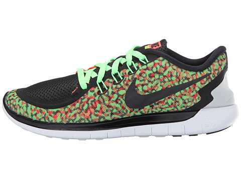 cheapest price online Women's Nike Free 5.0 Print Running Shoe Voltage Green/Black/Hyper Orange/White 2015 sale online outlet 2014 M9NtLWPLi