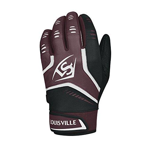 Louisville Slugger Omaha Adult Batting Gloves - X-Large, Maroon