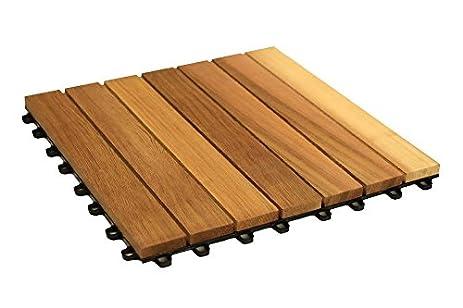 Woodway Interlocking Deck Tile Red Cedar Wood Easy Snap Together  Installation 10 Pack