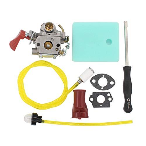 (MOTOKU Carburetor Boot Air Filter Carb Adjustment Tool for Poulan Pro PP338PT PP133 PP333 Weedeater Gas Line 33cc Trimmer Craftsman 545189502 545008042)