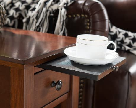 ModHaus Living Modern Wenge Espresso Wood Accent Side End Table