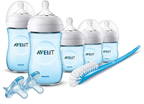 Philips Avent Natural Baby Bottle Blue Gift Set, SCD206/12 (Blue Set Gift)