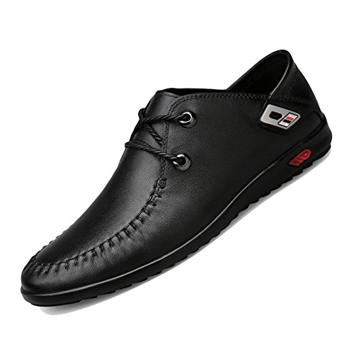 WKNBEU Scarpe Scarpe Di Cuoio Da Uomo Low Top Primavera Estate Nero Marrone Fashion Casual Derby Oxford Business Pizzo Black