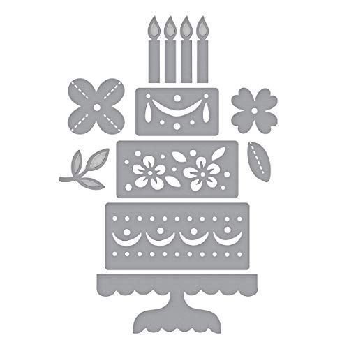 Spellbinders S4-1004 Etched/Wafer Thin Dies Shapeabilities Celebrate with Cake Metal ()