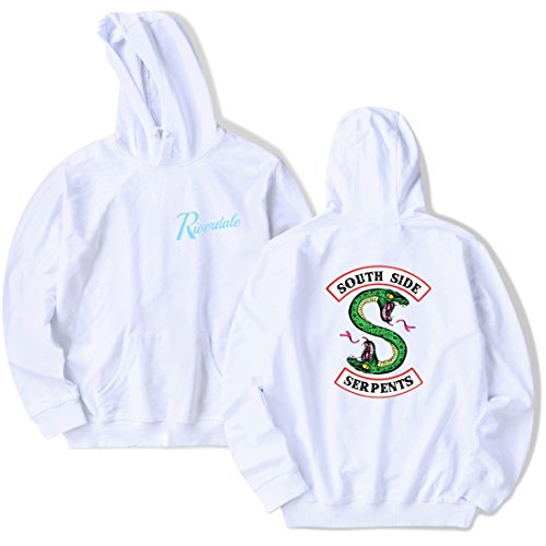 Sweat Serpent Homme Manches Logo Longues Emilyle Pull Riverdale Blanc South Side qgRdnYwpX
