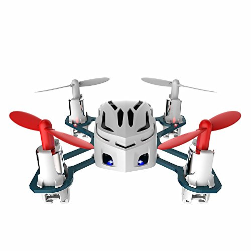 Hubsan H111 Nano Q4 4-Channel 6 Axis Gyro Mini RC Quadcopter with 2.4Ghz Radio System Mode 2 RTF- Carton Case White