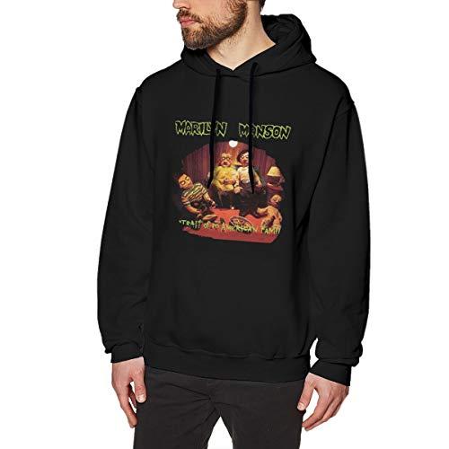 Marilyn Manson Portrait of an American Family Comfortable Mens Sweater Hooded Sweatshirt Black M