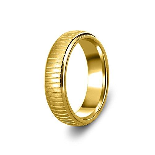a413414bf3 Nuevo sólido 9 ct 375 oro amarillo 6 mm corte pesado corte a rayas con  forma ...