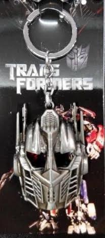 Transformers Optimus Prime Keychain - Transformers Optimus Prime Silver Keychain Holder