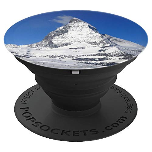 (Matterhorn Switzerland Socket Mountaineer Ski Snow Lover - PopSockets Grip and Stand for Phones and Tablets)