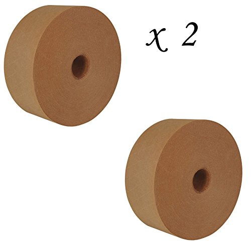 2 Rolls of Water Activated Packaging Carton Sealing Tape - 69mm x 137m (2.72