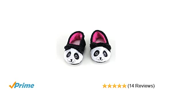 823eadff228 Amazon.com  Cute and Fuzzy Panda Slippers for 18