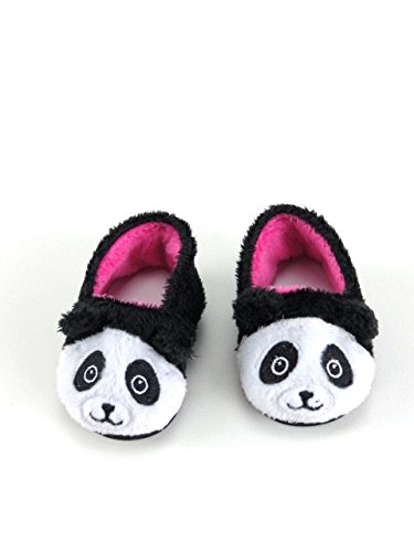 Cute and Fuzzy Panda Slippers for 18
