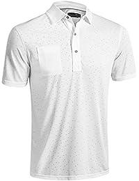2016 Mizuno Digital Jacquard Polo Shirt, White, Large