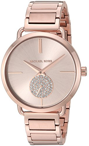 Michael Kors Women's 'Portia' Quartz Stainless Steel Casual Watch, Color:Rose Gold-Toned (Model: MK3640)