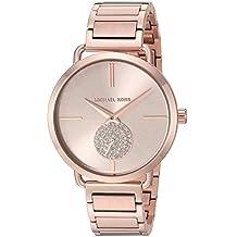 Michael Kors Women's 'Portia' Quartz Stainless Steel Casual Watch, Color:Rose Gold-Toned (Model: MK3640)