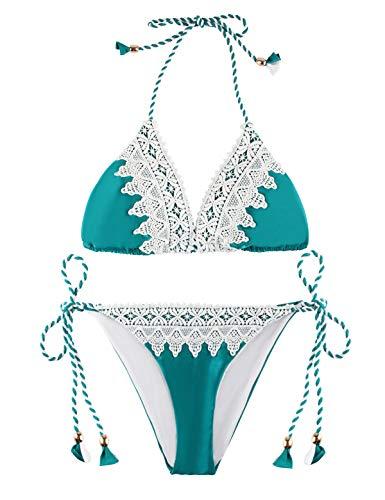 Green And White Bikini in Australia - 6