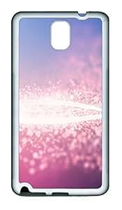 Samsung Note 3 Case Dazzling pink TPU Custom Samsung Note 3 Case Cover White