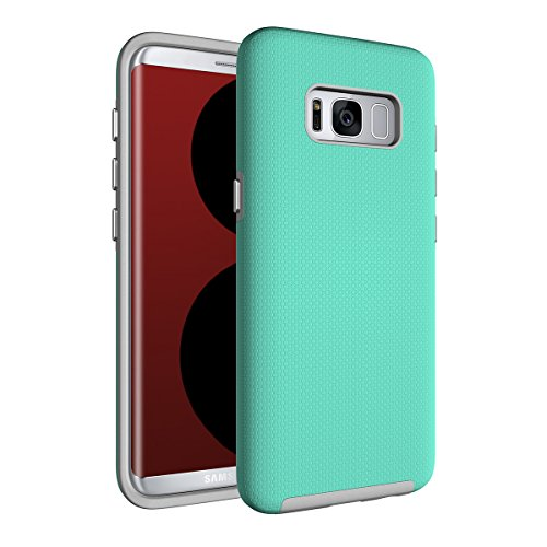 AICEDA Samsung Galaxy S9 Plus Case Drop Proof Bumper Anti-Scratch Carrying Case with Native Touch Feeling for Samsung Galaxy S9 Plus (Mint Green)