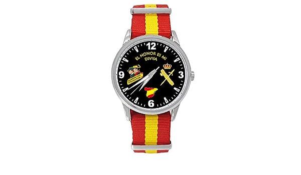 Reloj Guardia Civil Sumergible Esfera Negra Correa Bandera España ...
