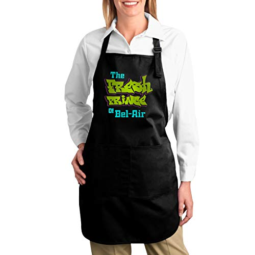 Michgton The Fresh Prince of Bel-Air Canvas Kitchen Chef Apron with Pocket Adjustable for Cooking