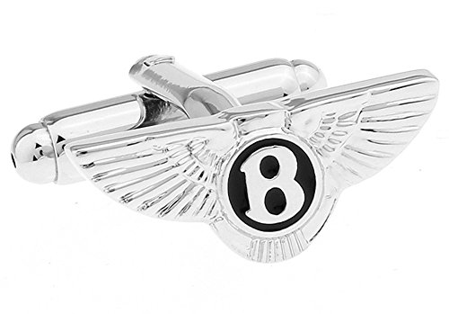 - Personalized Stainless Steel Bentley Car Logo Cufflinks Set with Nice Gift Bag