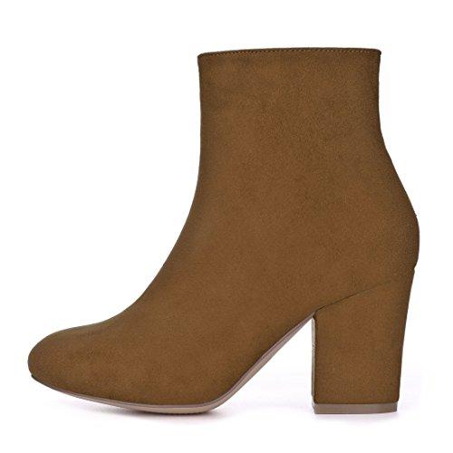 Women's Chunky K Round Heel Brown Allegra Ankle Toe Boots 7qA455w