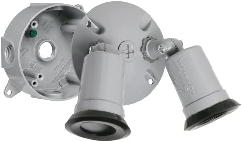Hubbell-Bell LT233S Traditional Outdoor Flood Light Kit, Gray