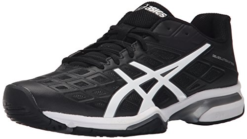ASICS Men's GEL-Solution Lyte 3 Tennis Shoe Black/White/Silver 11 M US