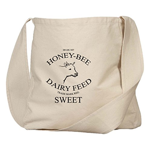 Honey Bee Dairy Feed Organic Cotton Canvas Market Bag Tote -