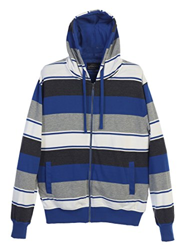 Blue Striped Hoodie Sweater - 2