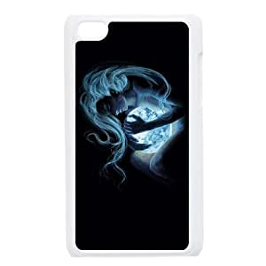 Luna funda iPod Touch 4 caja funda del teléfono celular blanco cubierta de la caja funda EEECBCAAJ15741