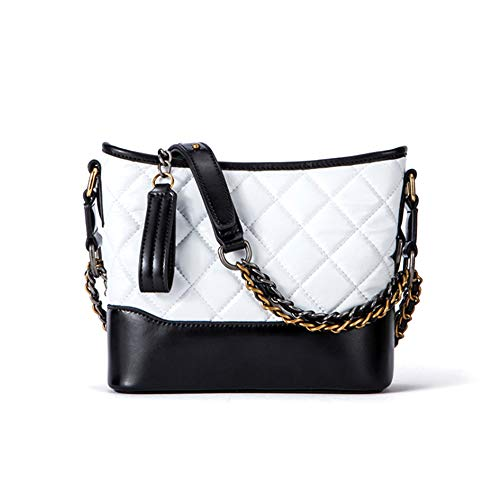 Girls Waterproof Leather Tote Lattice White with Strap for Bag Handbag Adjustable Handle Shoulder rrqPAaU5