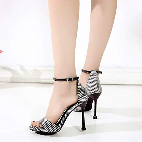 Femmes Sandales De Sexy Une Kphy Sac Pour 10cm Milliers Creuses Paire Aprs Hauts Chaussures t Et D'oiseaux Fines Talons EqwqYgR