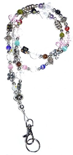 - Hidden Hollow Beads Slim Multi Mag Slim Multi Fashion Women's Beaded Lanyard with Break Away Magnetic Clasp 34