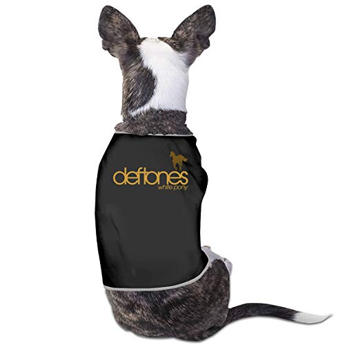 LSKXBC Deftones White Pony Lovely and Comfortable Pet Clothesv for Dogs and Cats L Black