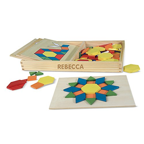Melissa & Doug Personalized Pattern Blocks & Boards Classic Toy -