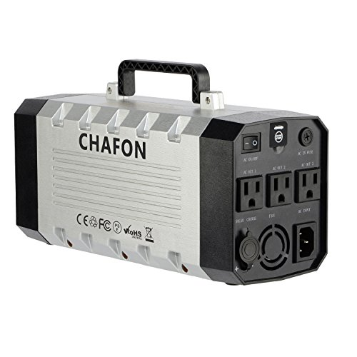 Chafon CF-UPS018 346WH Compact UPS Uninterrupted Power Supply(Pure Sine Wave) Lithium Battery with Car Jump Starter,Grounded U.S. Standard Outlets - Space - Generator Batteries Charging