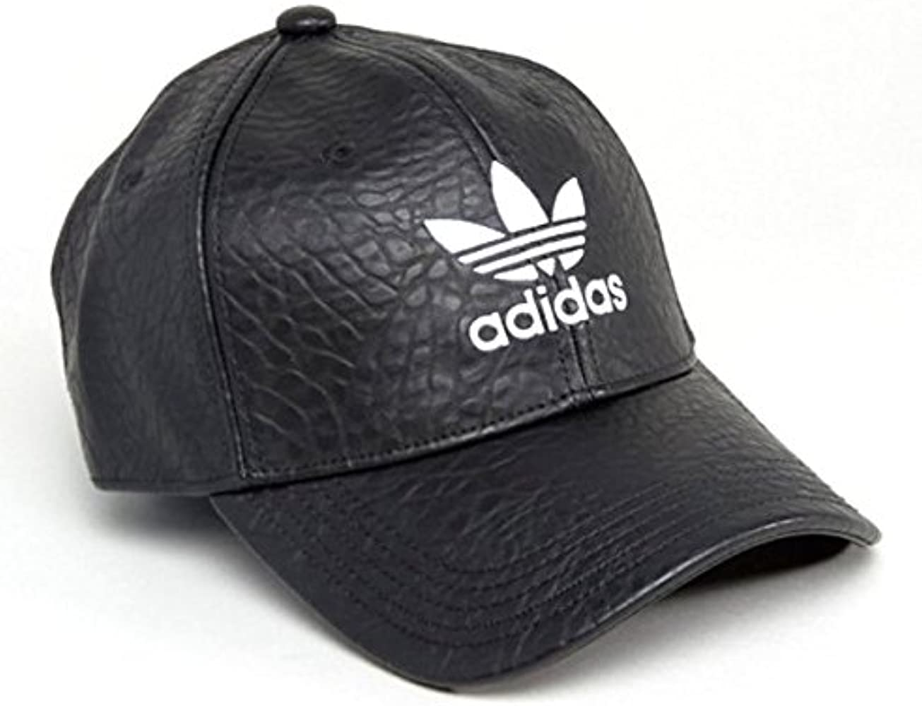 c5a3c73915109 アディダス]Adidas Originals オリジナルス Leather クラックレザー トレフォイル ロゴ キャップ 帽子 メンズ レディース