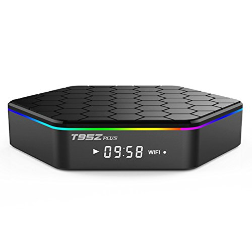 Android TV Box T95Z Plus,4K Smart TV Box Set Top Box of Amlogic S912 Octa-core CPU 2GB RAM 16GB ROM Dual-Band with 2.4G/5G Wi-Fi, Bluetooth & Remote